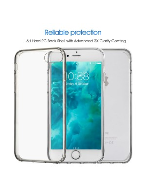 [iPhone 7 Case + iPhone 7 Screen Protector] Younik Crystal Clear Hard PC Back TPU Bumper Hybrid Case & Premium 0.33mm 9H Tempered Glass Screen Protector for iPhone 7 …