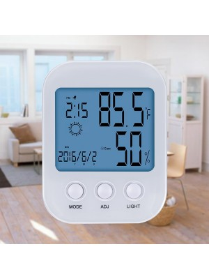 Younik Indoor Humidity Monitor - Bracket And Hanging Design with Thermometer Monitor features - White